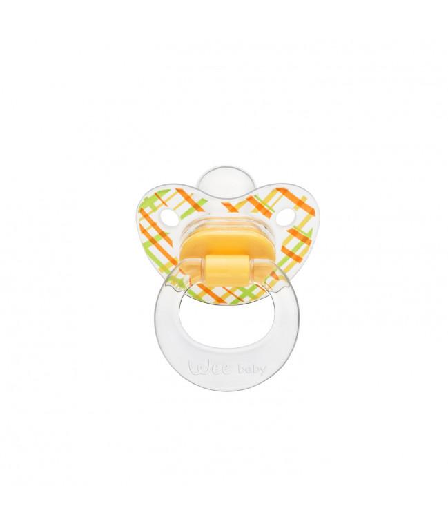 Chupete Silicona Con Paladar cuerpo de diseño transparente  NO:1 (Colgante)